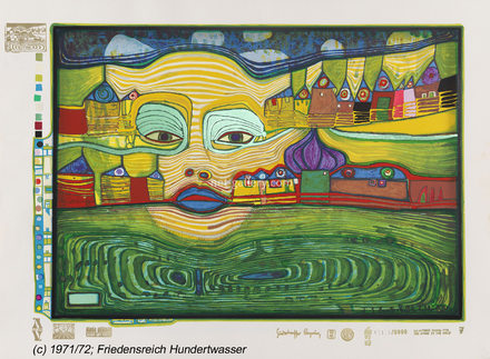 Irinaland over the Balkans HWG50, © Friedensreich Hundertwasser