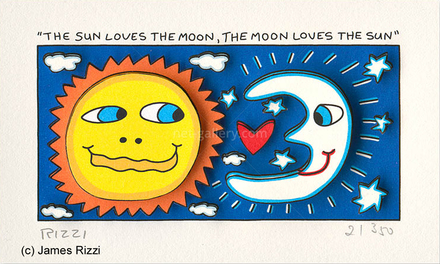 The sun loves the moon, the moon loves the sun