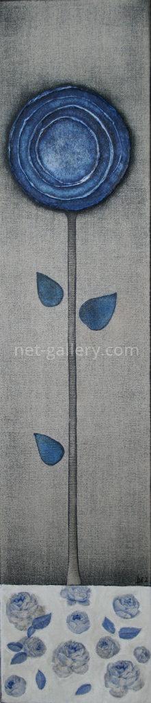 Blume in blau II