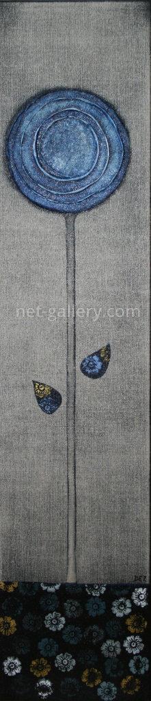 Blume in blau III