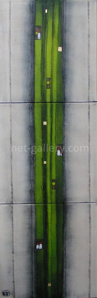 Landstrich in grün