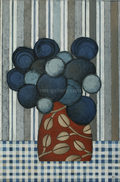 Blumentopf blau