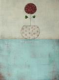 Blumentopf hellblau
