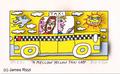 A mellow yellow taxi cab
